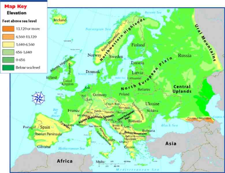 Map Of Mountains Of Europe 33 Map Of Mountains Of Europe