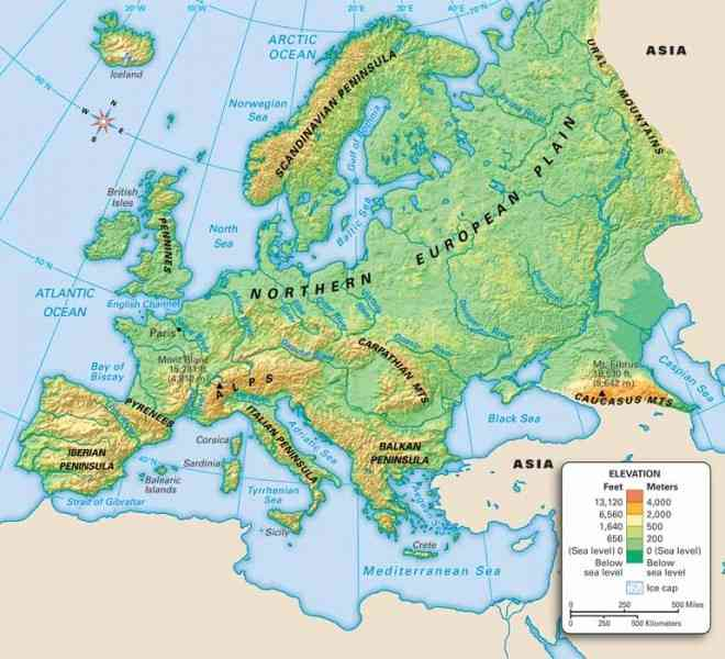 map of mountains of europe 413 Map Of Mountains Of Europe