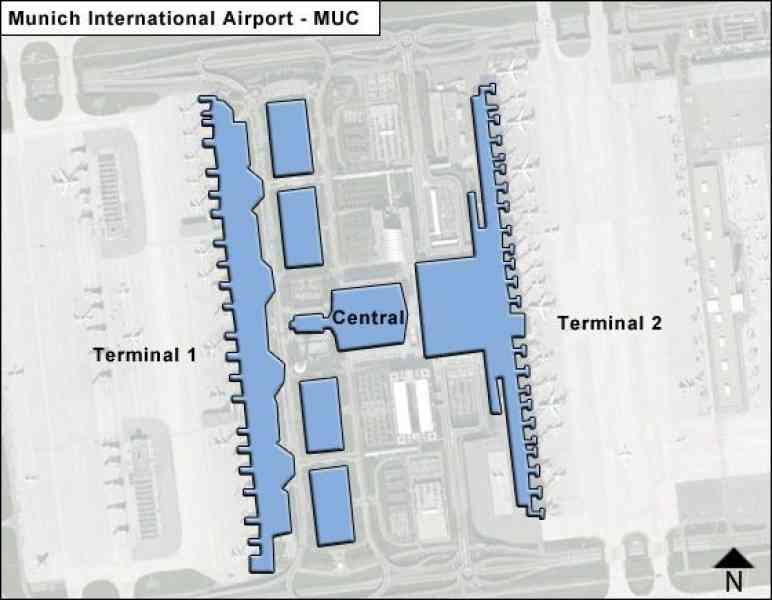 Map Of Munich Airport HolidayMapQcom