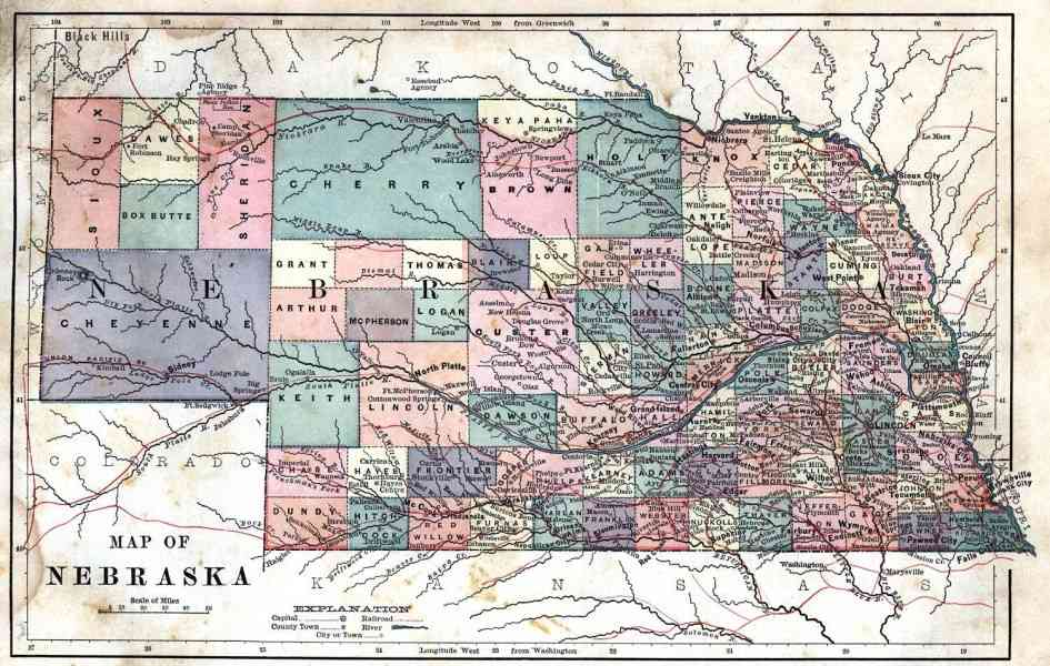 map of nebraska 62 Map Of Nebraska