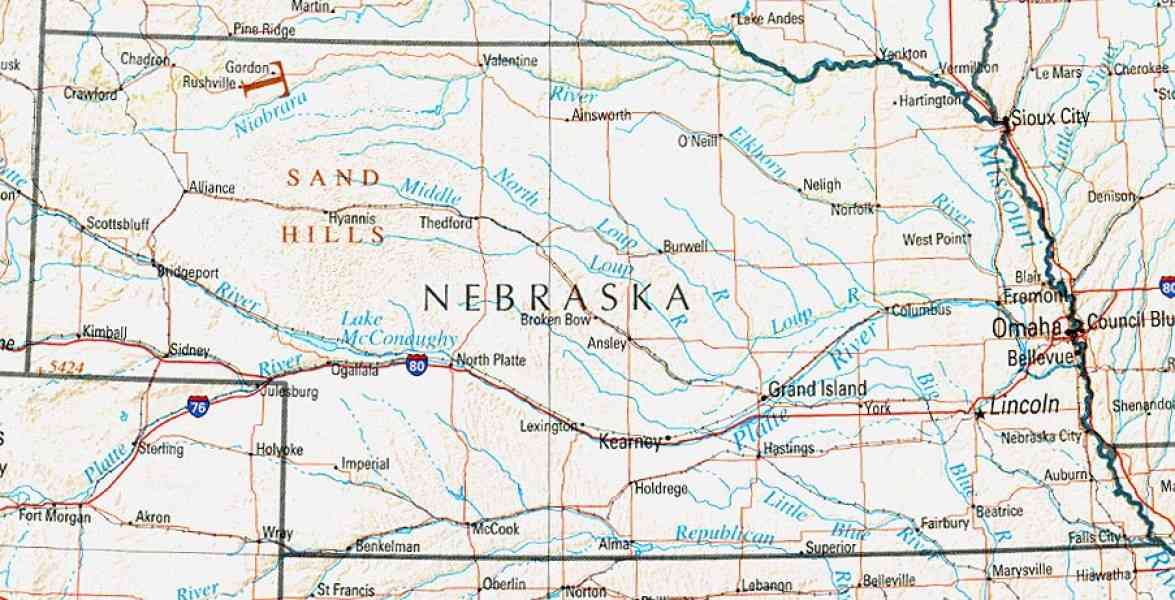 map of nebraska 87 Map Of Nebraska