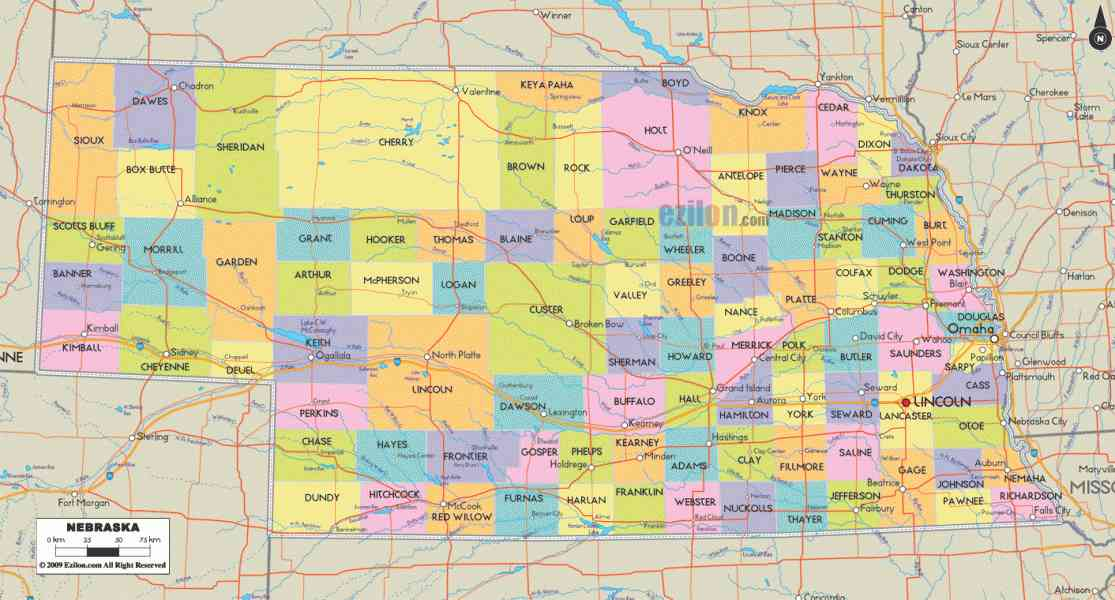 map of nebraska 199 Map Of Nebraska