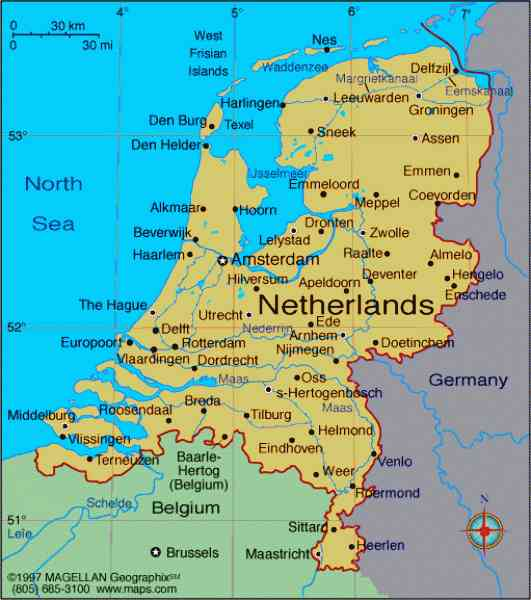 map of netherlands 6 Map Of Netherlands