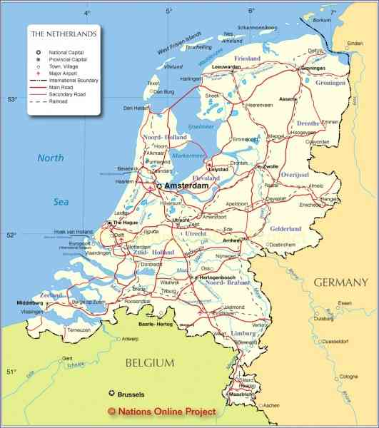 map of netherlands 188 Map Of Netherlands