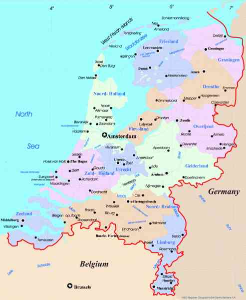 map of netherlands 429 Map Of Netherlands