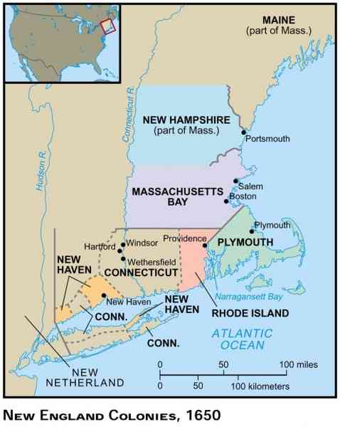 map of new england colony 7 Map Of New England Colony