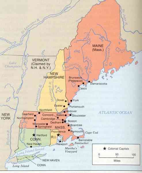 map of new england colony 79 Map Of New England Colony