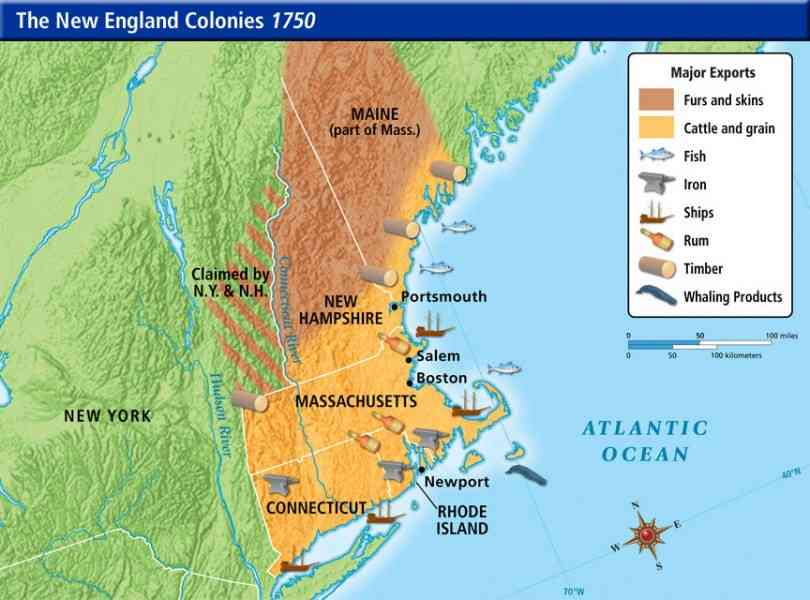 map of new england colony 23 Map Of New England Colony