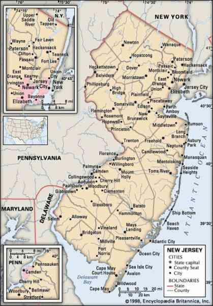 Map Of New Jersey Cities Map Holiday Travel HolidayMapQcom - Map of new jersey towns