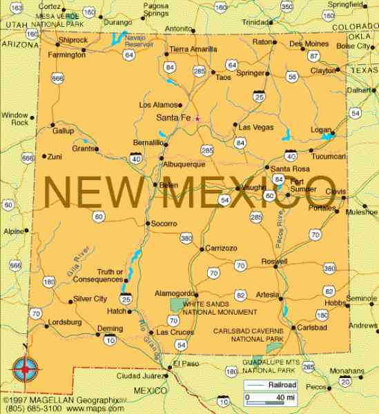 map of new mexico 451 Map Of New Mexico