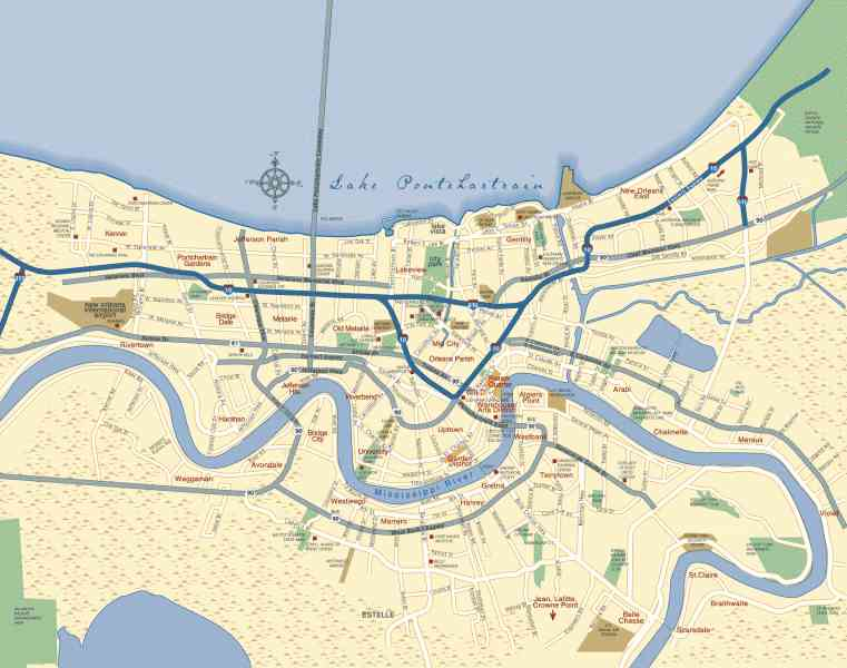 map of new orleans 2 Map Of New Orleans