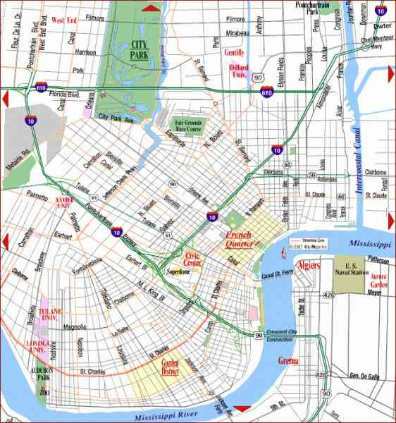map of new orleans 147 Map Of New Orleans