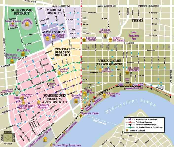 map of new orleans 684 Map Of New Orleans