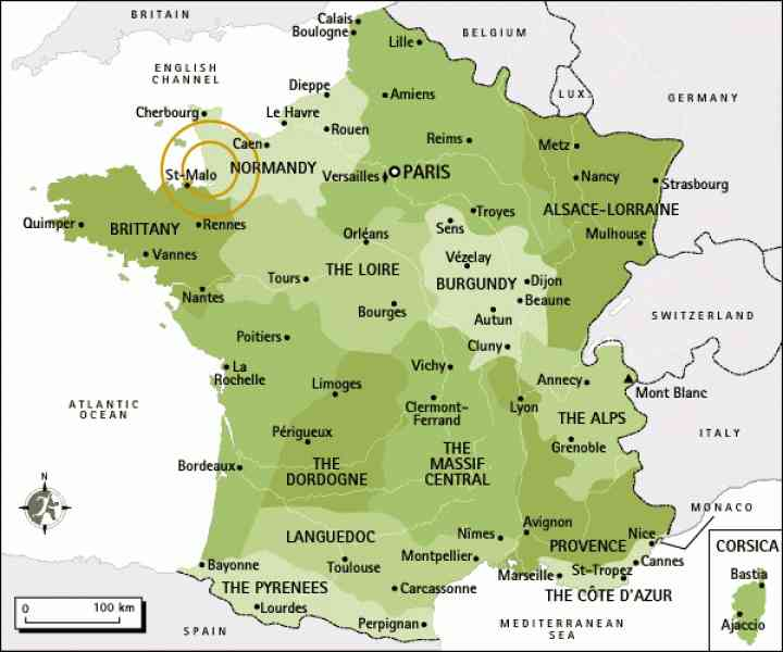 map of normandy in france 4 Map Of Normandy In France