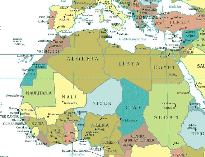 Map Of North Africa Map Holiday Travel
