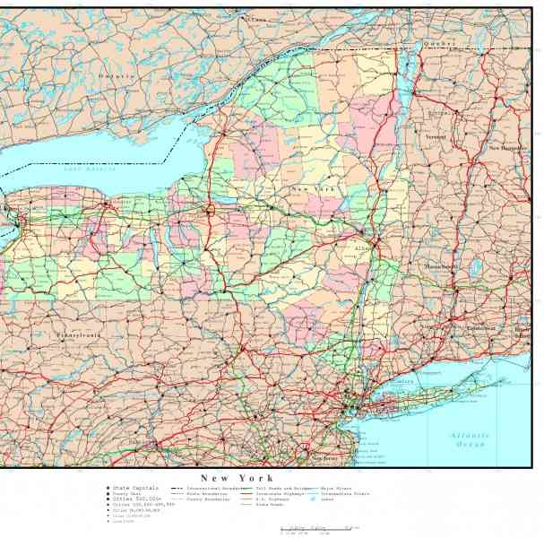 map of ny state 103 Map Of Ny State