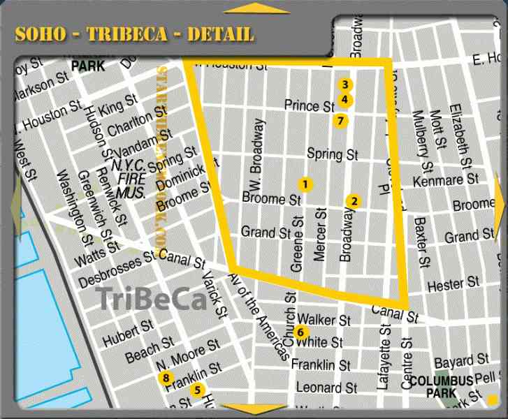 map of nyc soho 26 Map Of Nyc Soho