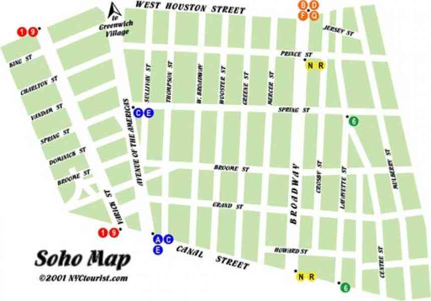 map of nyc soho 284 Map Of Nyc Soho