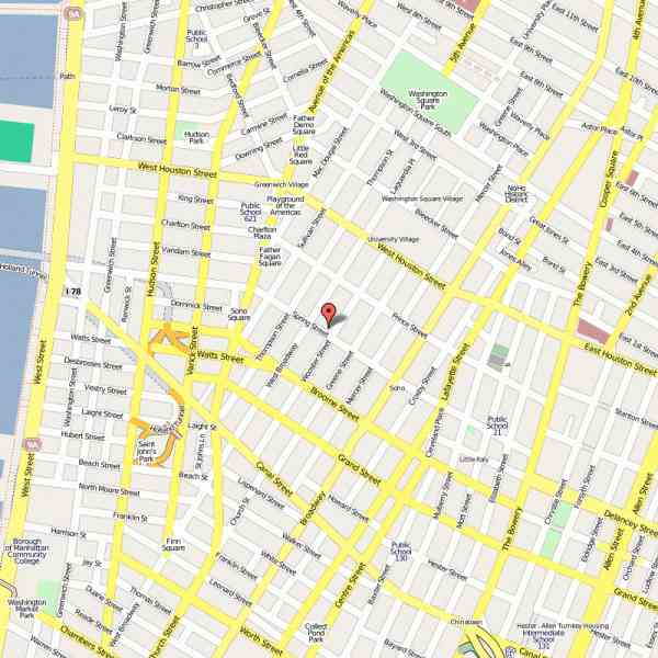map of nyc soho 274 Map Of Nyc Soho