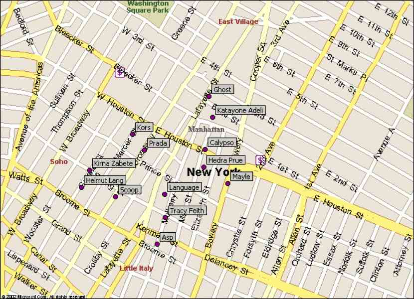 map of nyc soho 423 Map Of Nyc Soho