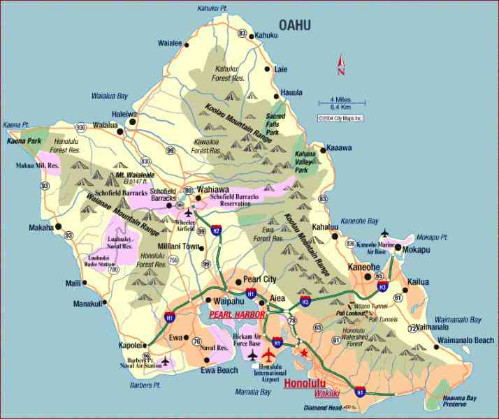 map of oahu 9 Map Of Oahu
