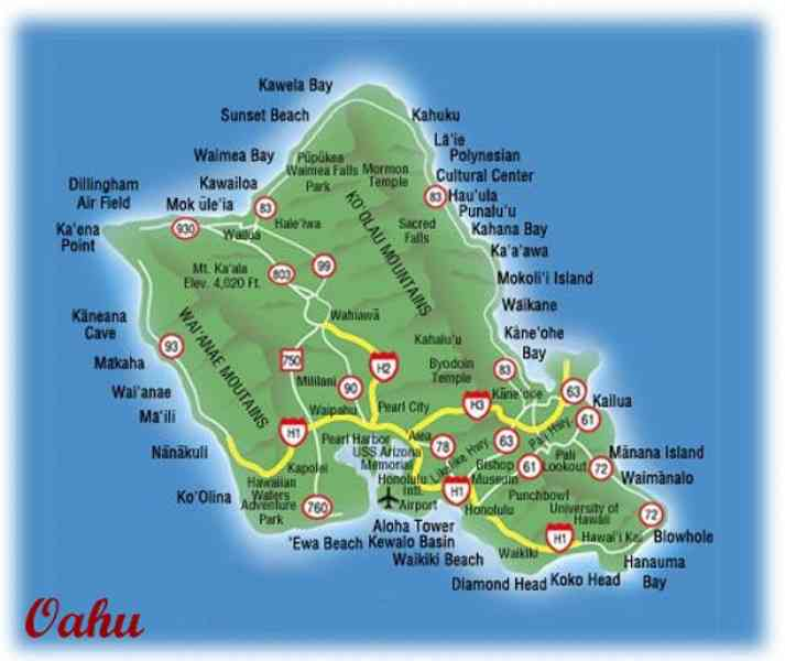 map of oahu 88 Map Of Oahu