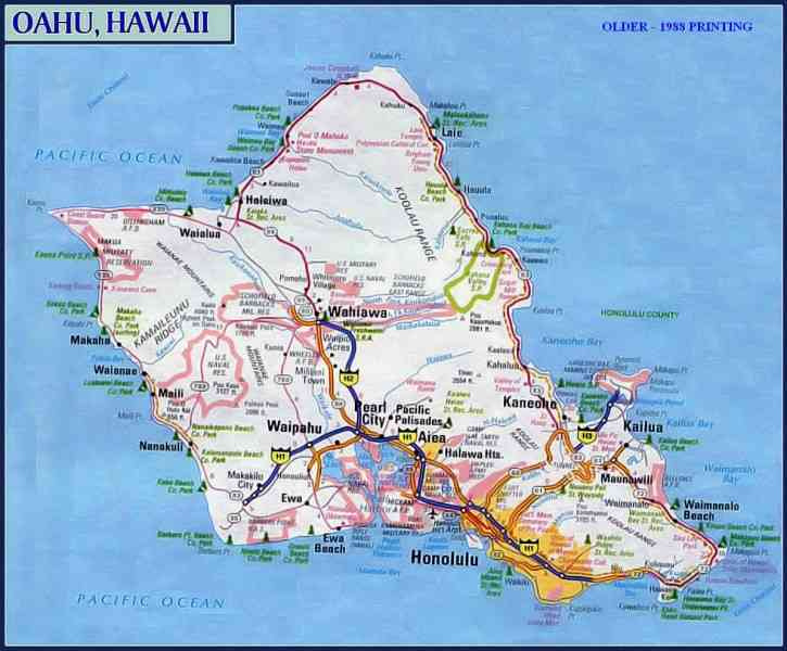 map of oahu 730 Map Of Oahu