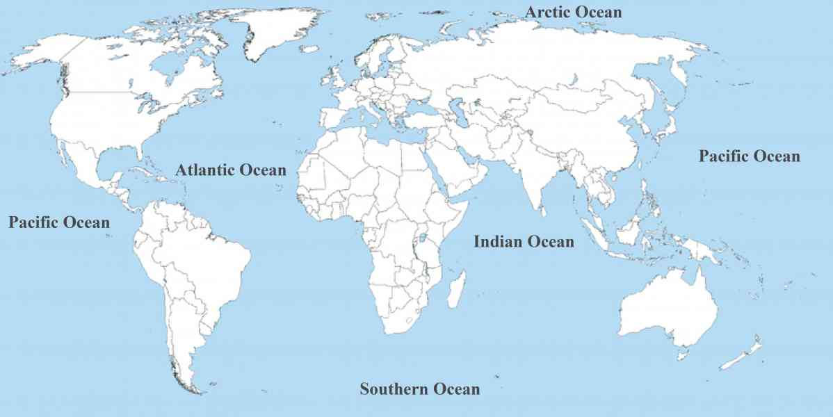 map of oceans of the world 5 Map Of Oceans Of The World