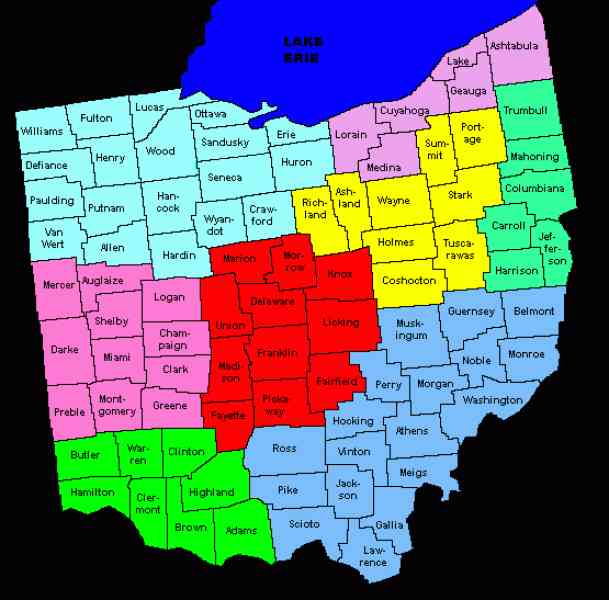 map of ohio counties 674 Map Of Ohio Counties