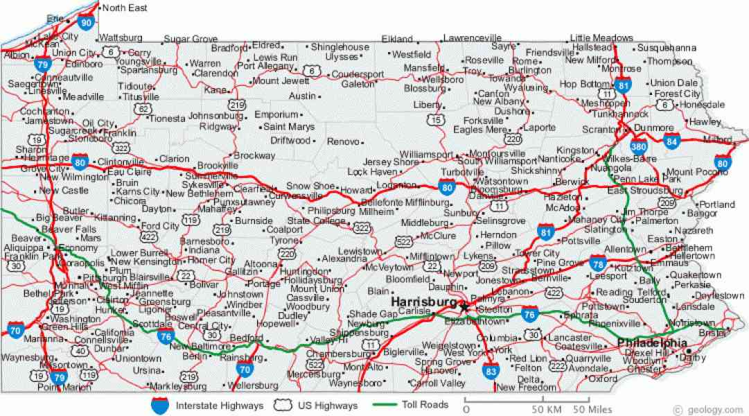 Map Of Ohio Pennsylvania Map Holiday Travel HolidayMapQcom - Ohio road map