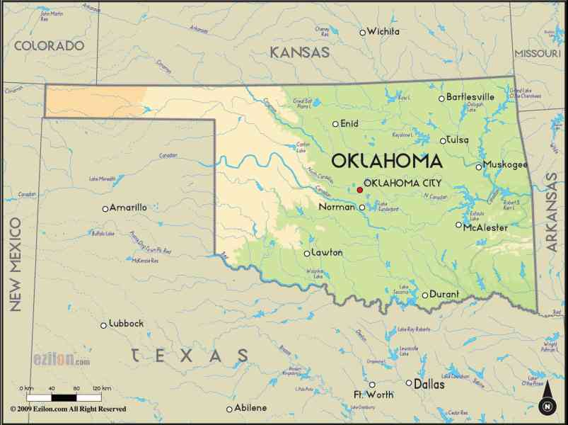 map of oklahoma 6 Map Of Oklahoma