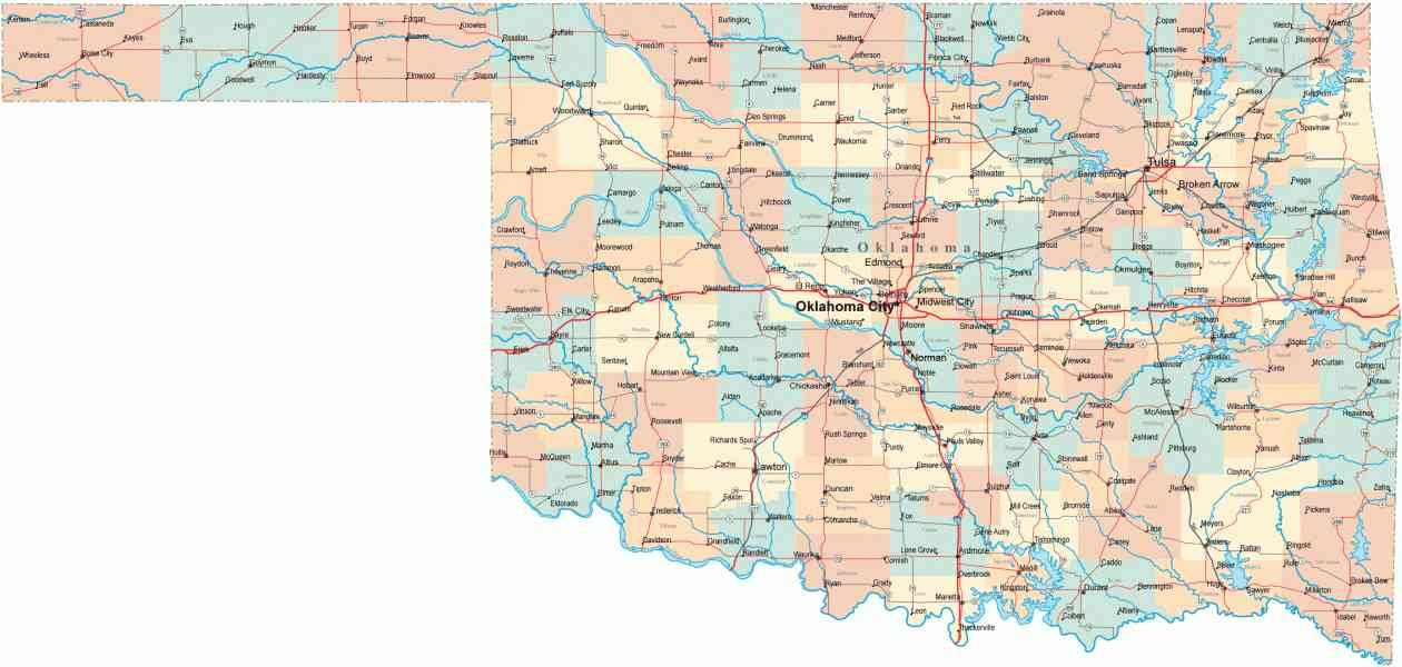 map of oklahoma 532 Map Of Oklahoma