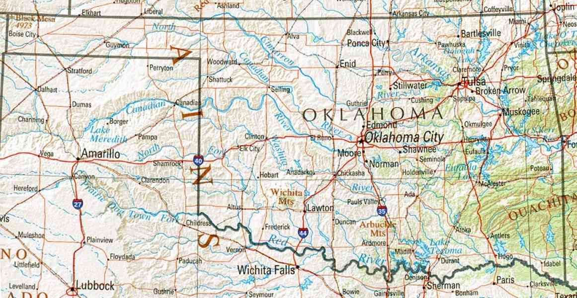 map of oklahoma 172 Map Of Oklahoma