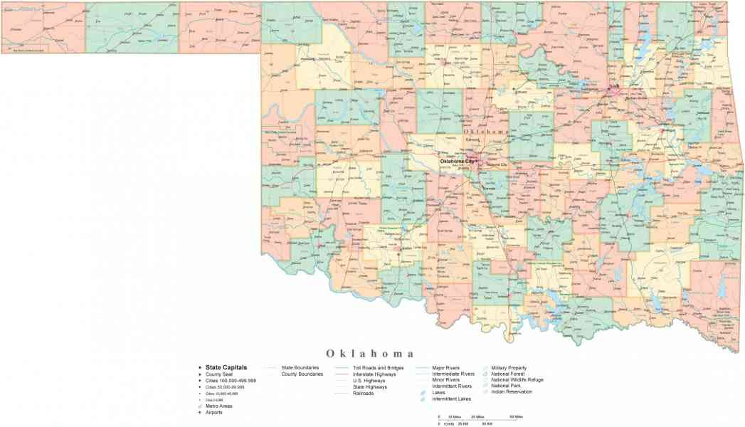 Map Of Oklahoma Cities Map Holiday Travel HolidayMapQcom - Oklahoma map with cities