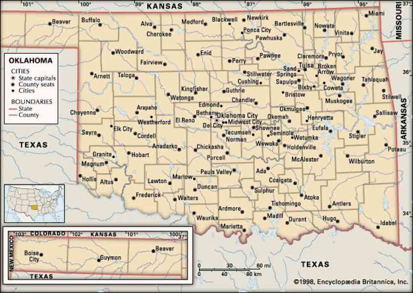 Map Of Oklahoma Cities Map Holiday Travel HolidayMapQcom - Map of oklahoma with cities