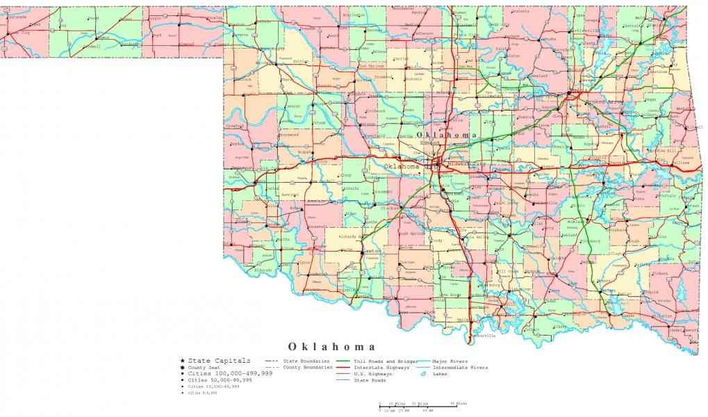 map of oklahoma cities 144 Map Of Oklahoma Cities