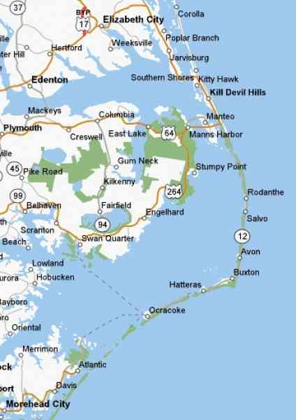 map of outer banks nc 2 Map Of Outer Banks Nc