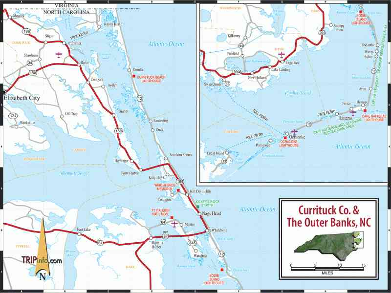 map of outer banks nc 78 Map Of Outer Banks Nc