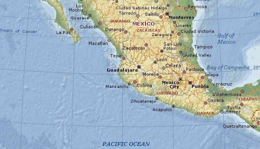 Mexico Pacific Coast Cities