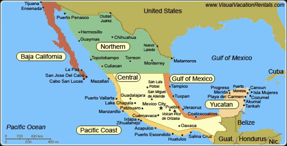 Map Of Pacific Mexico  Map  Holiday  Travel HolidayMapQcom