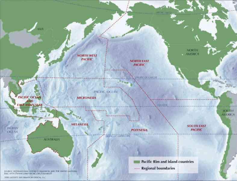 map of pacific ocean 230 Map Of Pacific Ocean