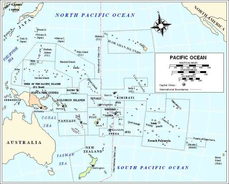 map of pacific ocean 595 Map Of Pacific Ocean