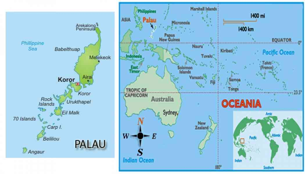 map of palau 446 Map Of Palau
