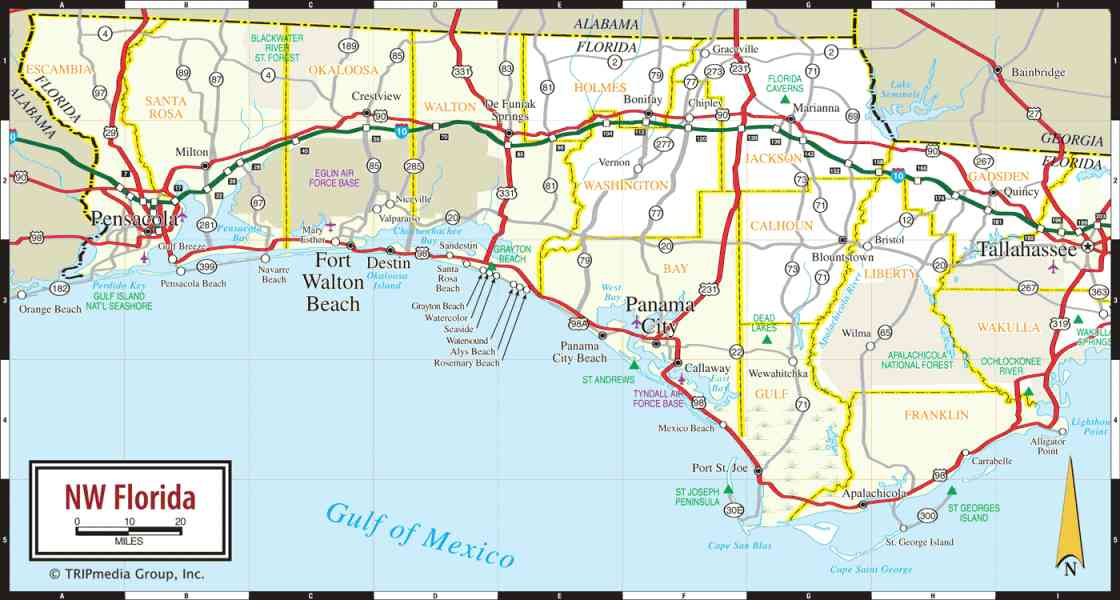 map of panhandle of florida 195 Map Of Panhandle Of Florida