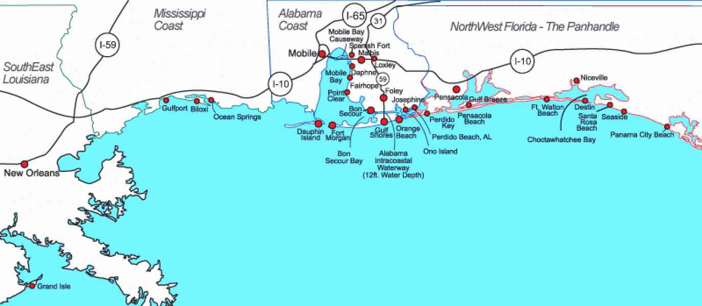 map of panhandle of florida 190 Map Of Panhandle Of Florida