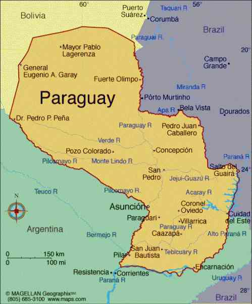 map of paraguay 525 Map Of Paraguay