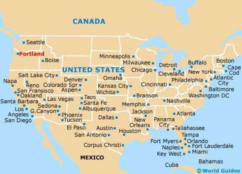 Where Is Portland In Usa On The Map MAP - Portland usa map