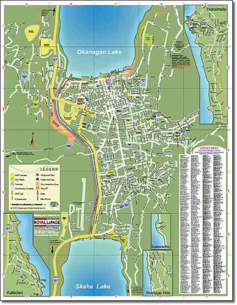 map of penticton 200 Map Of Penticton