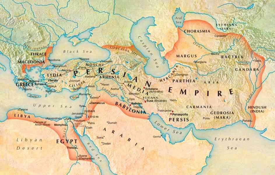 Map Of Persia - Map - Holiday - Travel HolidayMapQ.com