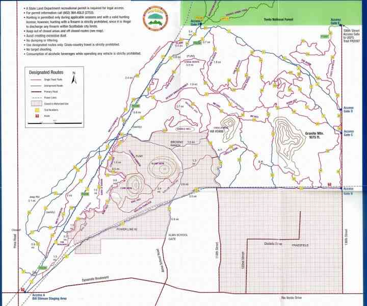 map of pima 461 Map Of Pima